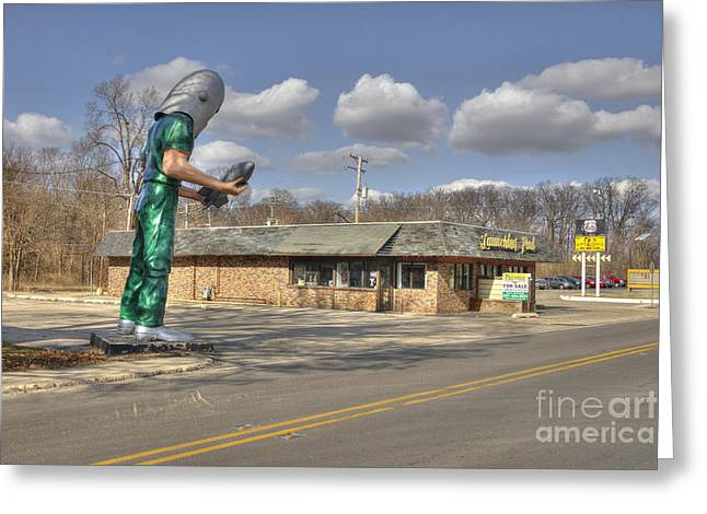 Hot Dog Joints Greeting Cards - Launching Pad  Greeting Card by Rob Hawkins