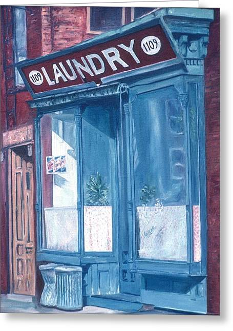 Fine Artworks Greeting Cards - Laundry Greeting Card by Anthony Butera