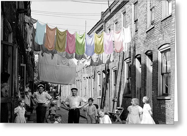 Laundry Day 2 Greeting Card by Andrew Fare