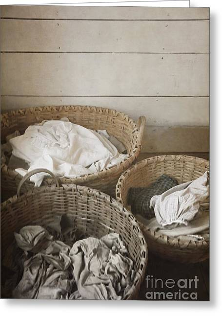 Outfit Greeting Cards - Laundry Day Greeting Card by Margie Hurwich
