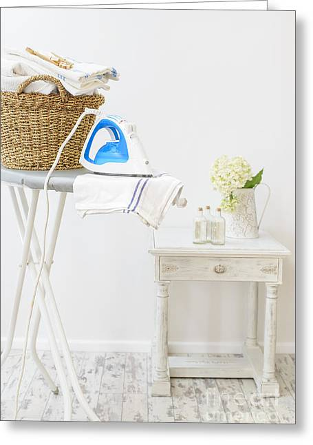 Laundry Greeting Cards - Laundry Room Greeting Card by Amanda And Christopher Elwell