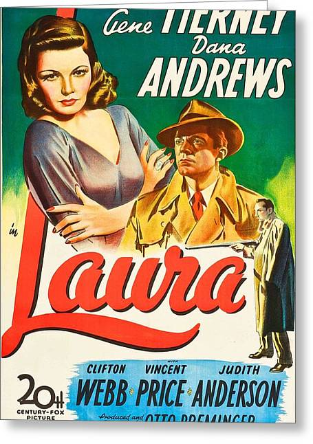 1944 Movies Greeting Cards - Laura - 1944 Greeting Card by Nomad Art And  Design