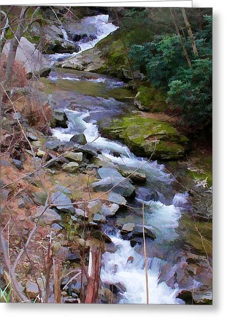 Topaz Greeting Cards - Laurel Creek  Greeting Card by Tom Culver