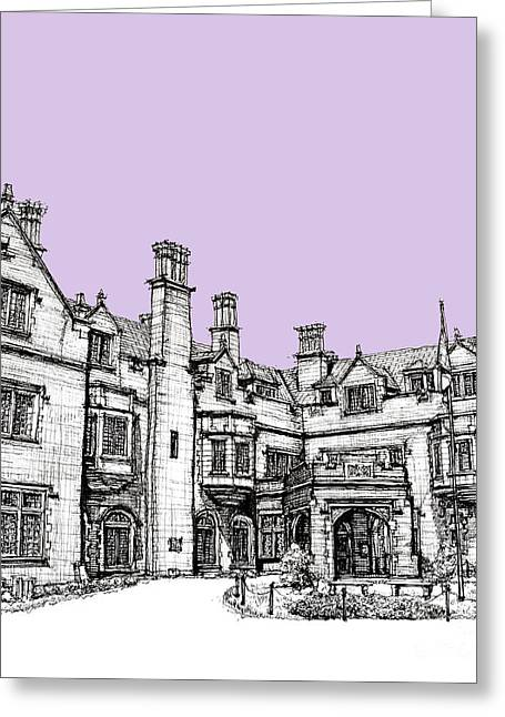 Reception Greeting Cards - Laurel Hall in lilac Greeting Card by Lee-Ann Adendorff