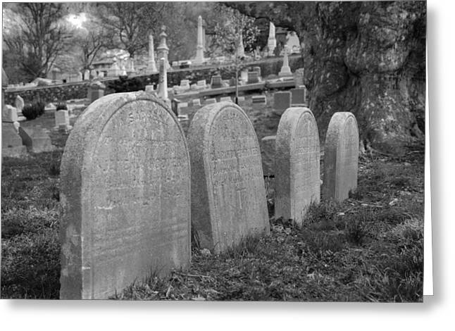 Gravestones Greeting Cards - Laurel Hill headstones Greeting Card by Jennifer Lyon