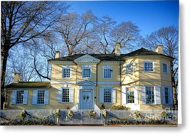 Phila Photographs Greeting Cards - Laurel Hill Mansion Greeting Card by Olivier Le Queinec