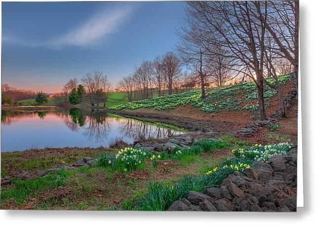 Farming Greeting Cards - Laurel Ridge Sunset Greeting Card by Bill  Wakeley