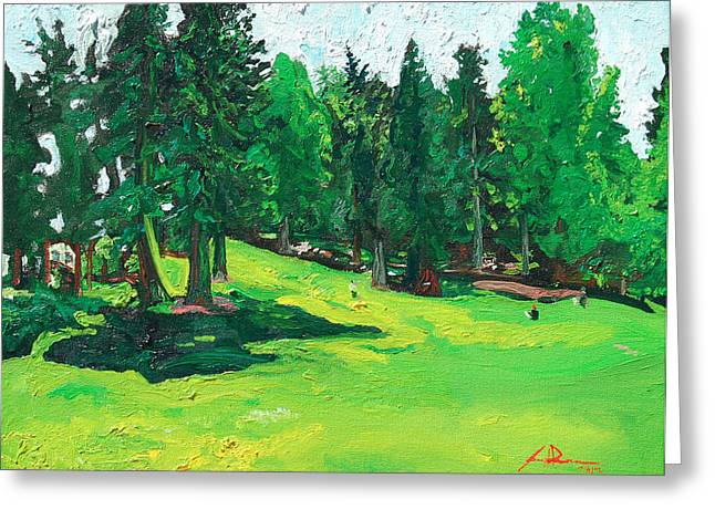 Laurelhurst Park Greeting Card by Joseph Demaree