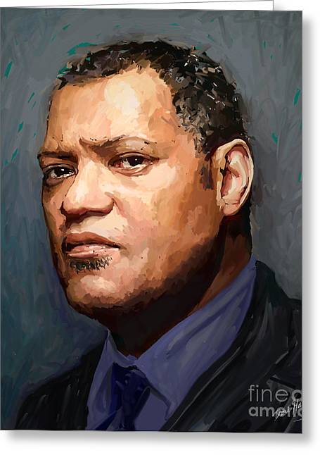 Laurence Fishburne Greeting Cards - Laurence Fishburne Greeting Card by Dori Hartley