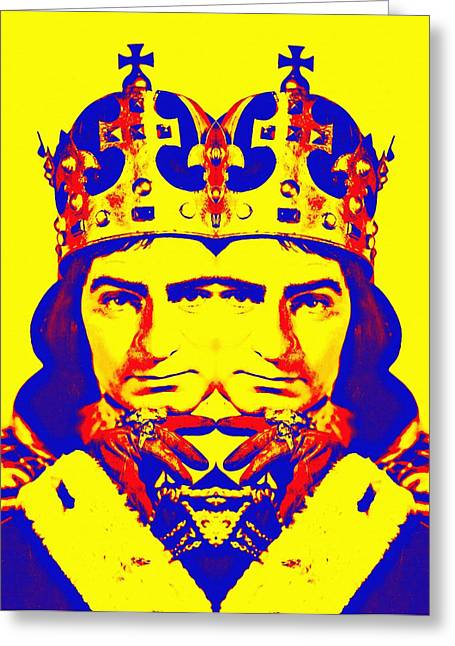 Recently Sold -  - 1955 Movies Greeting Cards - Laurence Olivier double in Richard III Greeting Card by Art Cinema Gallery
