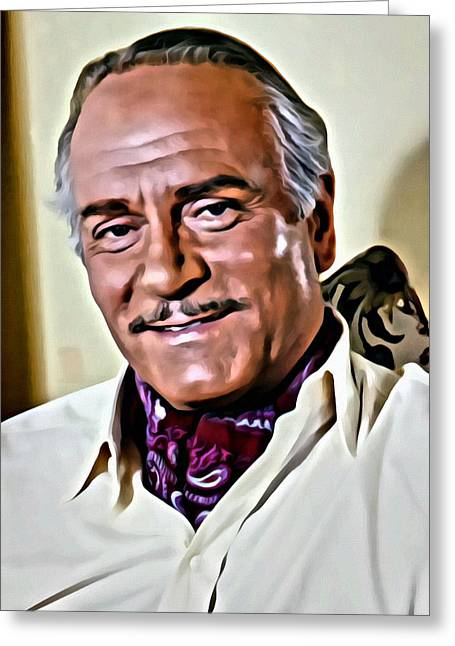 Laurence Greeting Cards - Laurence Olivier Greeting Card by Florian Rodarte