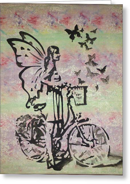 Banksy Paintings Greeting Cards - Laurens bike Greeting Card by Wim Standish
