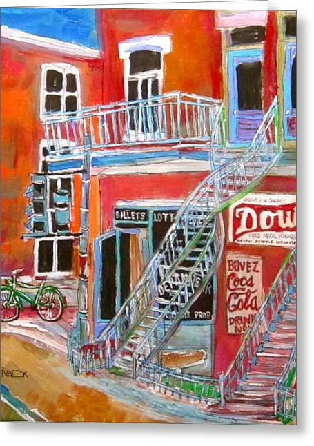 Michael Litvack Greeting Cards - Laurier Balconies Greeting Card by Michael Litvack