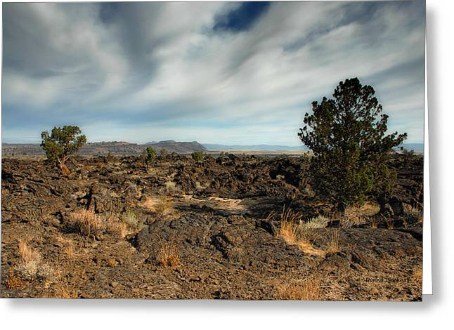 Siskiyou County Greeting Cards - Lava Beds National Monument Greeting Card by Donna Blackhall