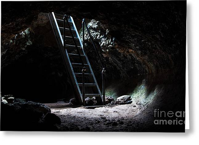 Cavern Greeting Cards - Lava Beds National Monument - California  Greeting Card by Gary Whitton