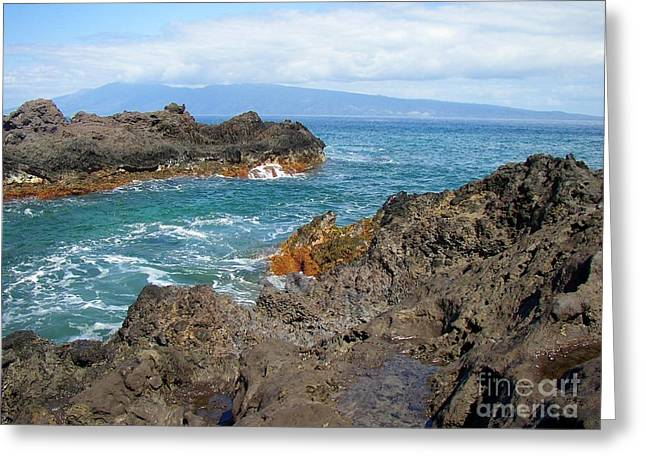 Professional Photography Greeting Cards - Lava Coastline - West Maui Greeting Card by Glenn McCarthy Art and Photography