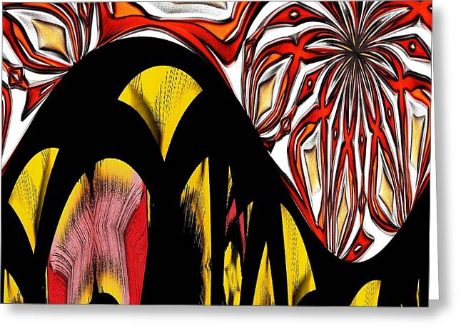Artstic Greeting Cards - Lava Flow Greeting Card by Alec Drake