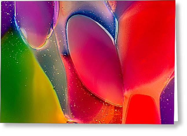 Shiny Glass Art Greeting Cards - Lava Lamp Greeting Card by Omaste Witkowski