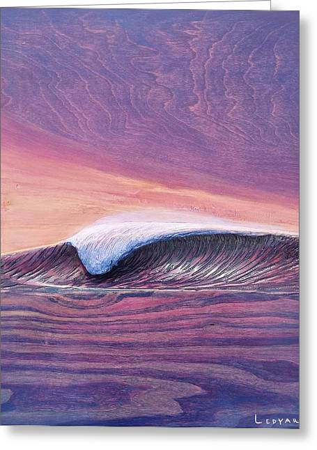 Carving Reliefs Greeting Cards - Lava Tube Greeting Card by Nathan Ledyard