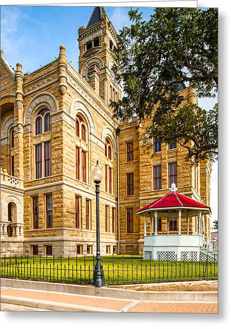 La Grange Greeting Cards - Lavaca County Courthouse - Hallettsville Texas Greeting Card by Silvio Ligutti