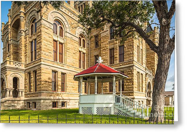 La Grange Greeting Cards - Lavaca County Courthouse II - Hallettsville Texas Greeting Card by Silvio Ligutti