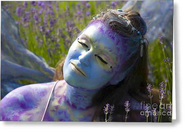 Third Estate Greeting Cards - Lavander Fairy Greeting Card by Graham Foulkes