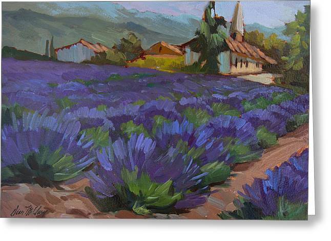 Saint-remy De Provence Greeting Cards - Lavandin en Fleur Greeting Card by Diane McClary