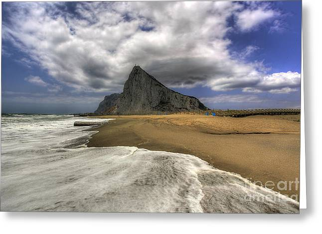 Lavante Over Gibraltar Greeting Card by English Landscapes