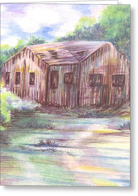 Shack Drawings Greeting Cards - Laveen Shack Greeting Card by Lucia Parga-Navarro