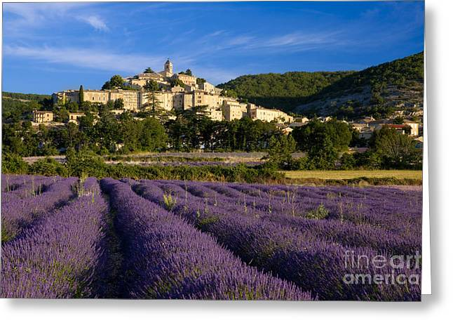 Provence Village Greeting Cards - Lavender and Banon Greeting Card by Brian Jannsen