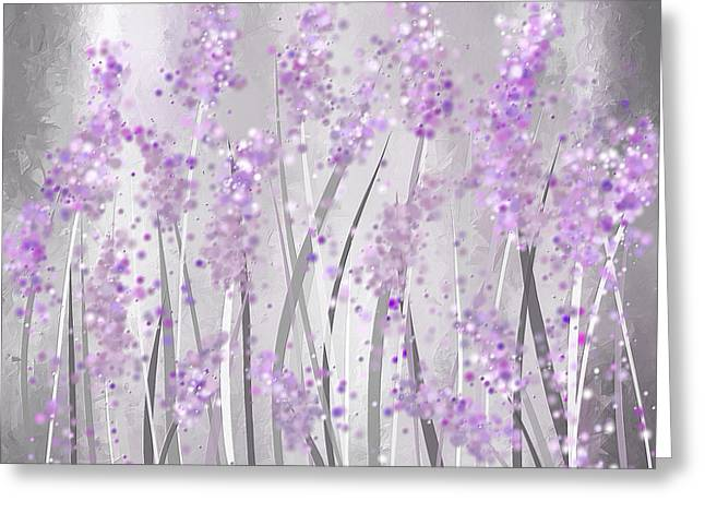 Lavender Art Greeting Card by Lourry Legarde