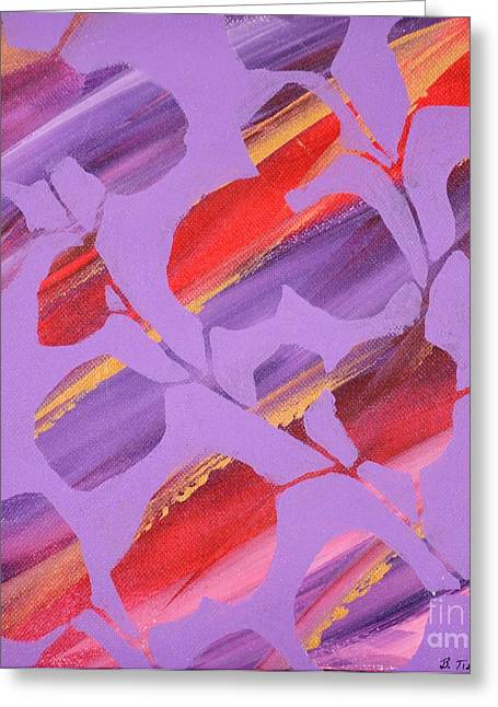 Breezy Greeting Cards - Lavender Greeting Card by Barbara Tibbets