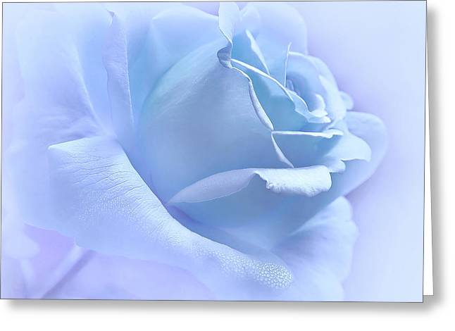 Purple Roses Greeting Cards - Lavender Blue Rose Flower Greeting Card by Jennie Marie Schell