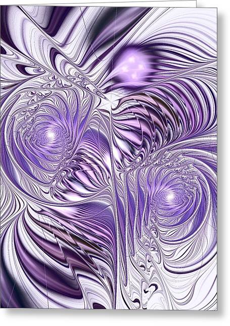 Feng Shui Art Mixed Media Greeting Cards - Lavender Elegance Greeting Card by Anastasiya Malakhova