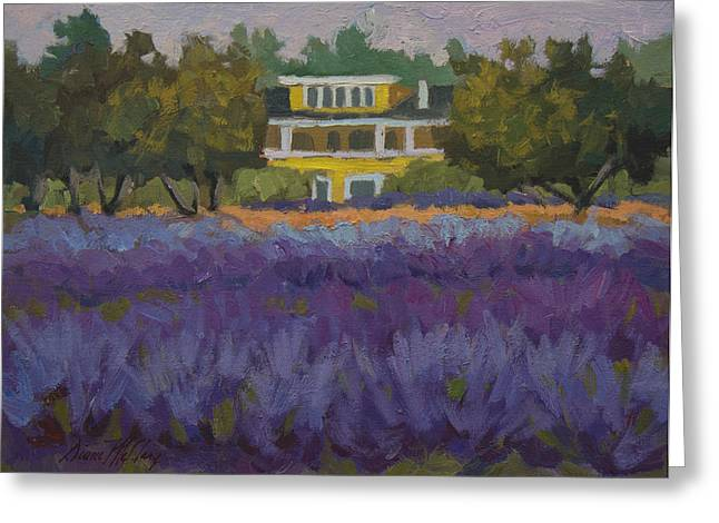 Pacific Greeting Cards - Lavender Farm on Vashon Island Greeting Card by Diane McClary