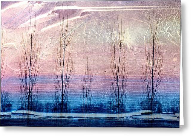 Cardboard Greeting Cards - Lavender Interference Greeting Card by Jan Amiss Photography