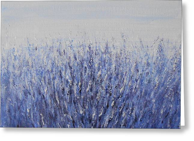Jane See Art Greeting Cards - Lavender Greeting Card by Jane  See