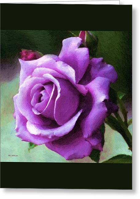 Square Format Greeting Cards - Lavender Lady Greeting Card by RC deWinter