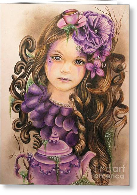 Coloured Pencil Greeting Cards - Lavender  Greeting Card by Sheena Pike