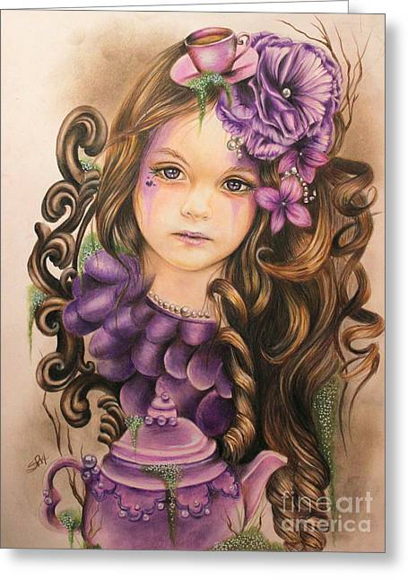 Lavender  Greeting Card by Sheena Pike