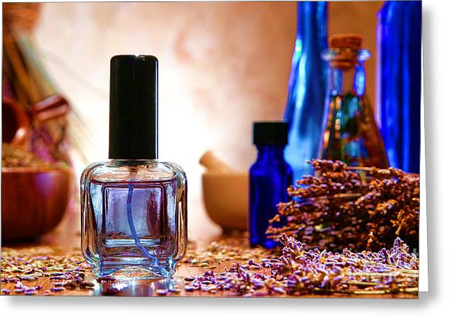 Essential Greeting Cards - Lavender Shop Greeting Card by Olivier Le Queinec
