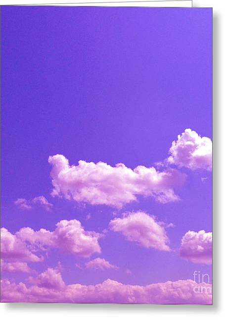 Sky Greeting Cards - Lavender Skies Greeting Card by M West