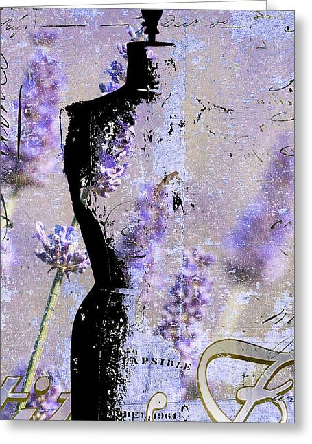 Children Crafts Greeting Cards - Lavender Vintage Fashion Mannequin Greeting Card by Adspice Studios