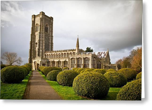 Philanthropist Greeting Cards - Lavenham church Greeting Card by Tom Gowanlock