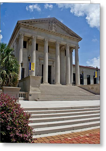 Lsu Campus Greeting Cards - Law Center at LSU Greeting Card by Mamie Thornbrue