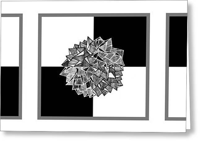 Geometric Abstraction Mixed Media Greeting Cards - Law of gravity Greeting Card by Sumit Mehndiratta