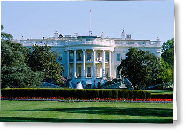 Residential Structure Greeting Cards - Lawn In Front Of A Government Building Greeting Card by Panoramic Images
