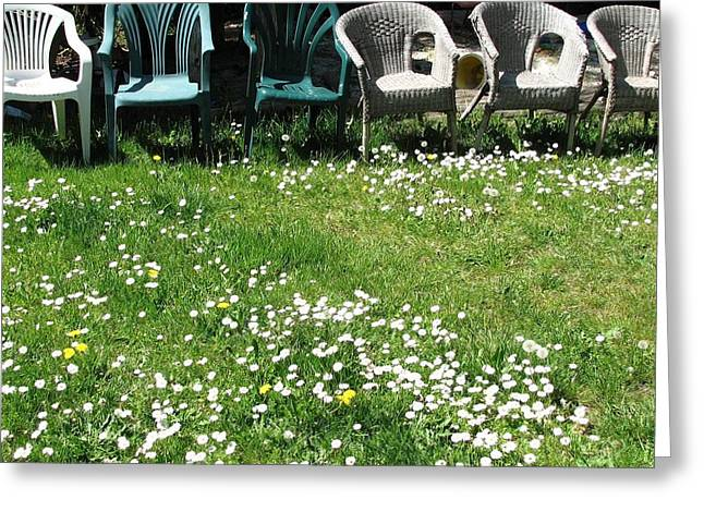 Lawn Chair Greeting Cards - Lawn Party Greeting Card by Annie  DeMilo