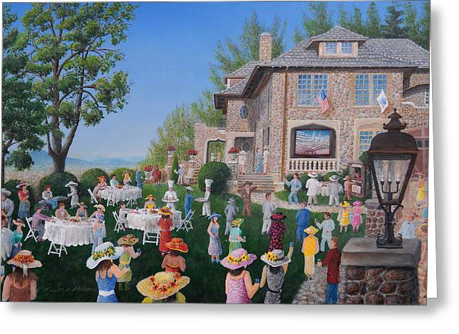 Fund Raiser Greeting Cards - Lawn Party Greeting Card by Kenneth Stockton