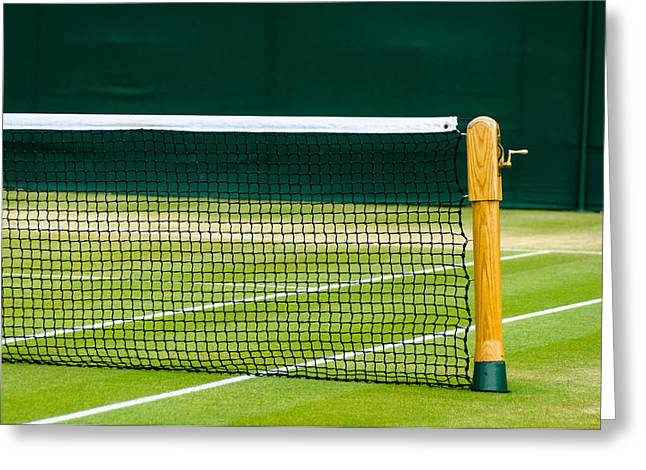 Wimbledon Photographs Greeting Cards - Lawn tennis court Greeting Card by Dutourdumonde Photography